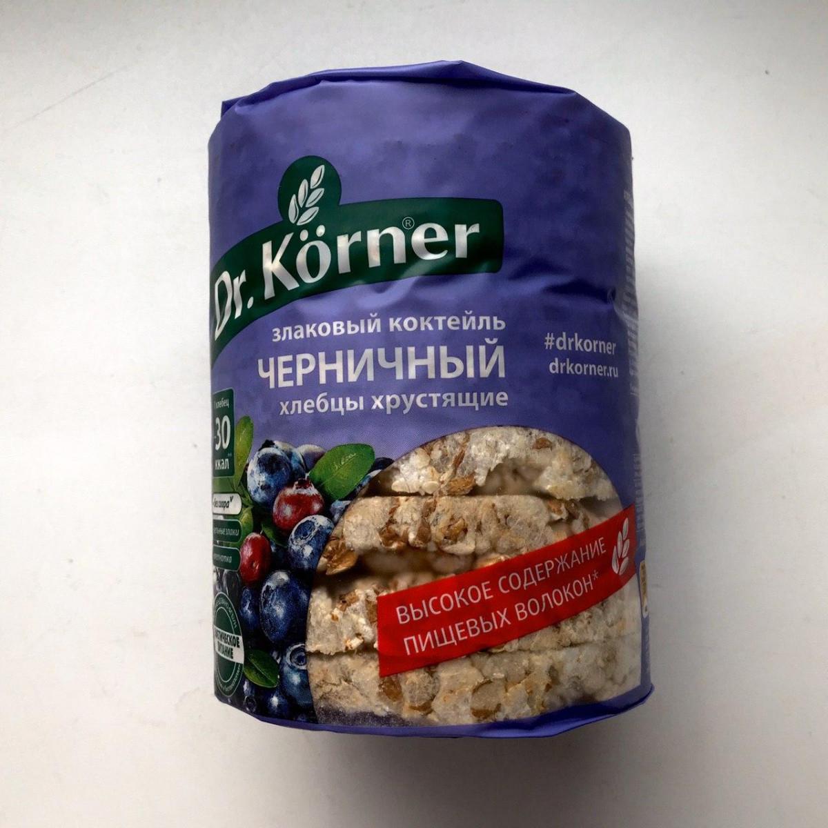 Хлебцы хрустящие злаковый коктейль черничный, 100 г.
